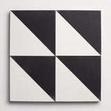 "cement slant black + white square 8""x8""x5/8"""
