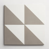 "cement slant metal + white square 8""x8""x5/8"" sample"