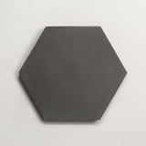 "cement solid charcoal hex 8""x9""x5/8"""