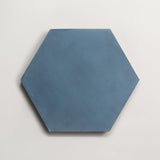 "cement solid federal blue hex 8""x9""x5/8"""