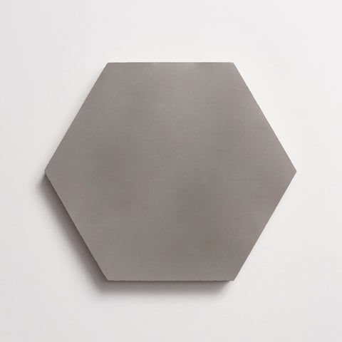 "cement solid metal hex 8""x9""x5/8"" sample"