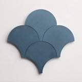 "cement solid federal blue scallop 8""x8""x5/8"" sample"