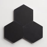 "cement solid black hex 8""x9""x5/8"""