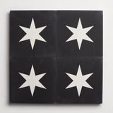 "cement star bright black + white square 8""x8""x5/8"" sample"