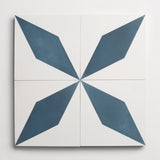 "cement xtra credit white + federal blue square 8""x8""x5/8"" sample"