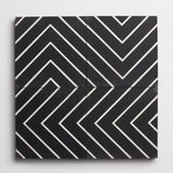 "cement zenith black + white square 8""x8""x5/8"""
