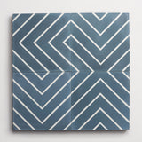 "cement zenith federal blue square 8""x8""x5/8"" sample"