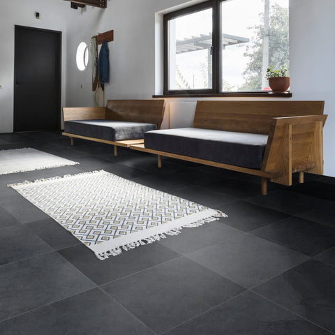 Cle Tile Slate Natural Stone Large Field Grey