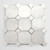 "zio & sons + clé  zellige weathered white 4"" octagon / bouchon"