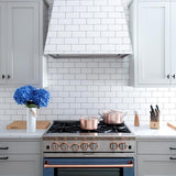 "white subway tile 4""x8"" gloss"