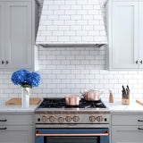 "white subway tile 3""x6"" gloss"