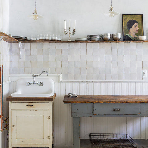 Zellige Weathered White 4 Quot X4 Quot Square Glazed Moroccan
