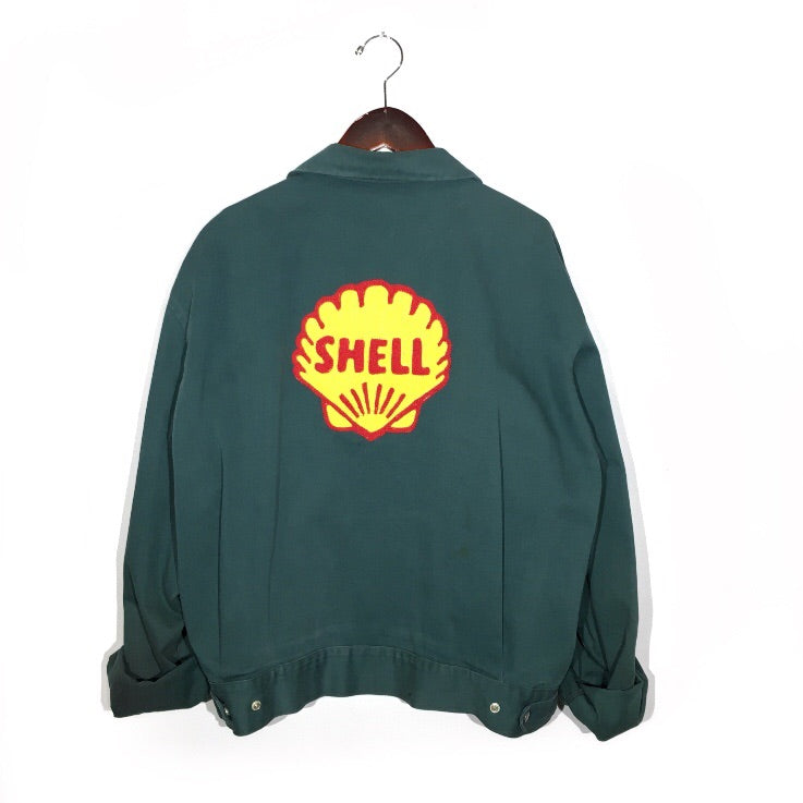 "Chain-Stitched ""Shell"" Vintage Jacket"