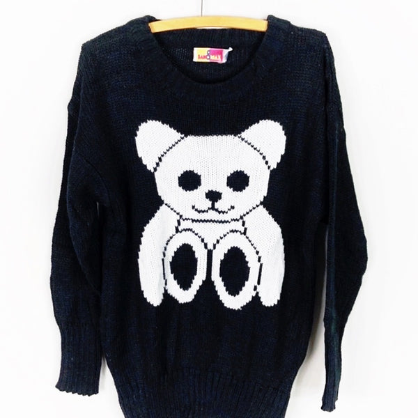 Vintage Oversized Teddy Bear Sweater