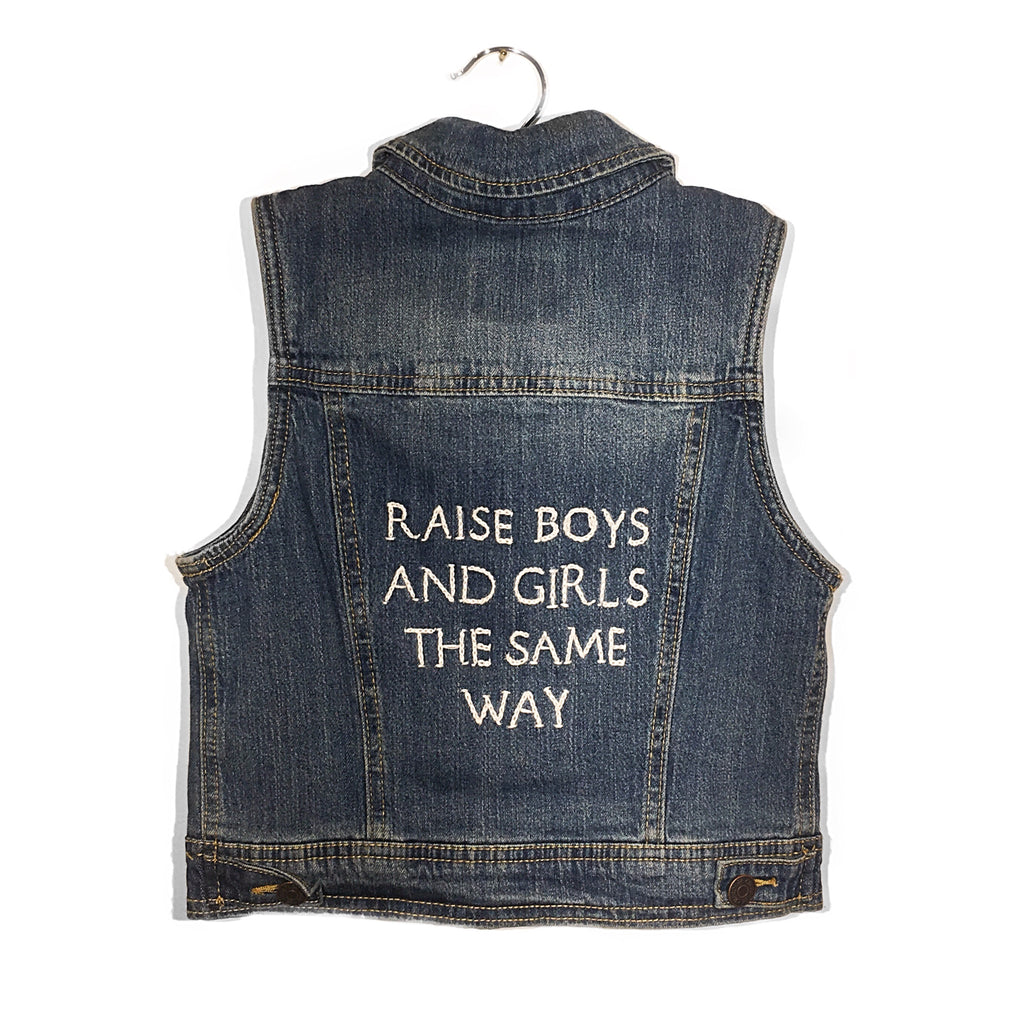 Embroidered Kid's Denim Vest