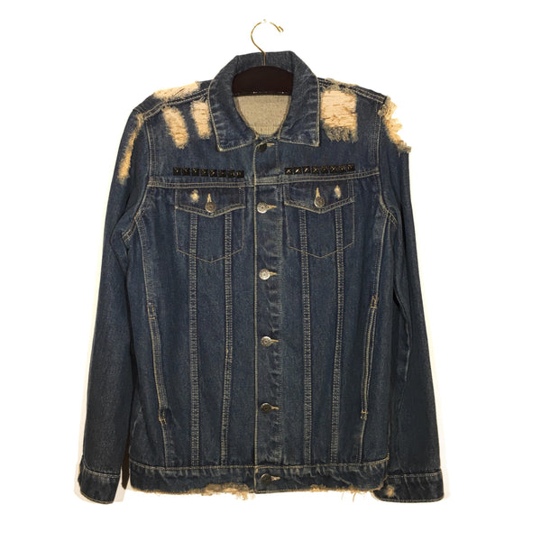Custom Distressed Court Shop Denim Jacket
