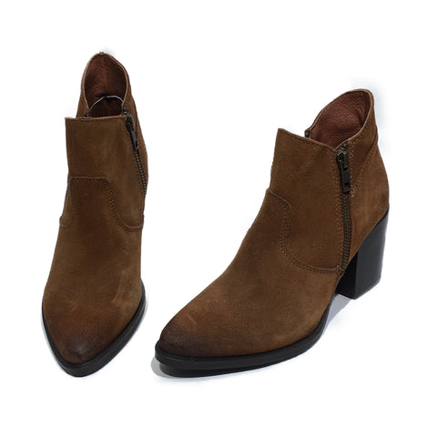 Brown Suede Steve Madden Booties