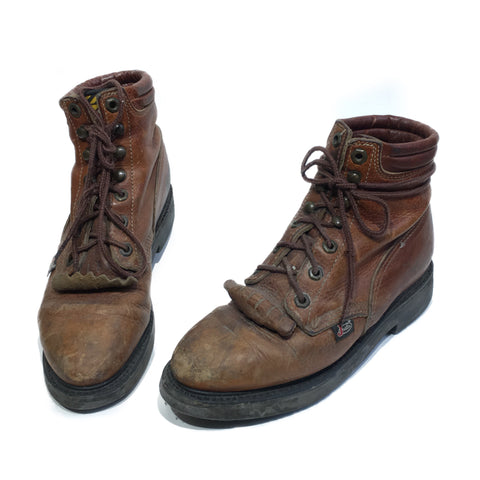 Brown Justin Hiking/Workboots