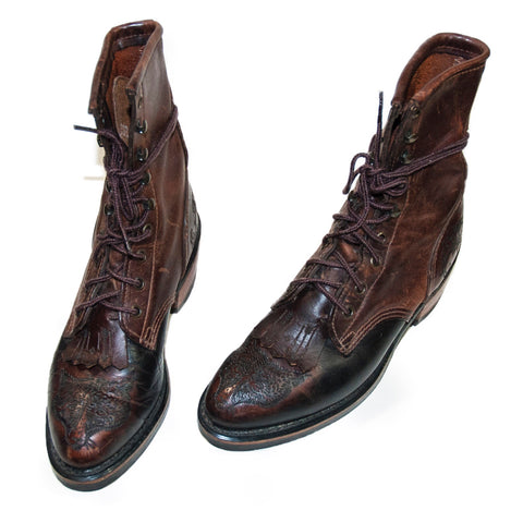 Gorgeous Hand Engraved Roper Boots