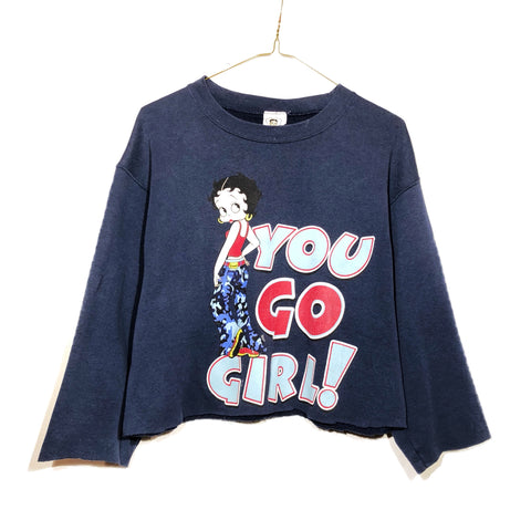 "90s Betty Boop ""You Go Girl"" Cropped Sweatshirt"