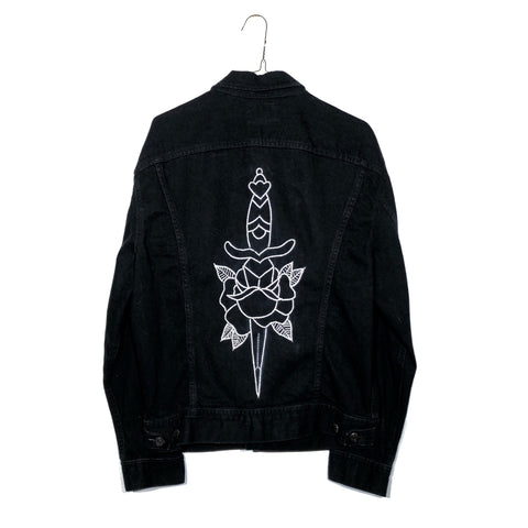 Dagger & Rose Embroidered Lee Denim Jacket