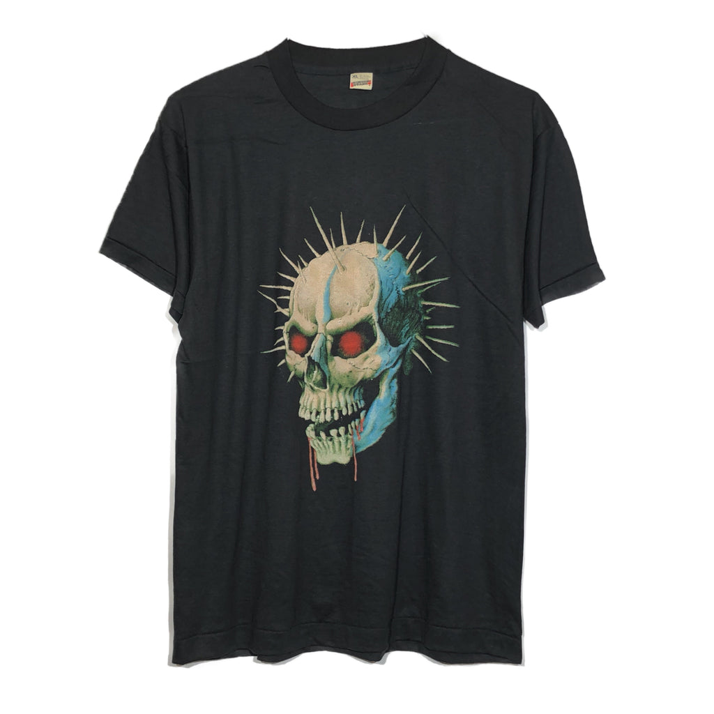 Paper Thin 80s Screen Stars Spiked Skull Tee