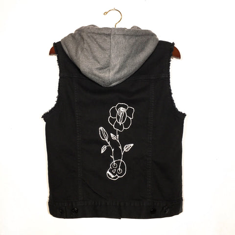 Embroidered Hooded Vest