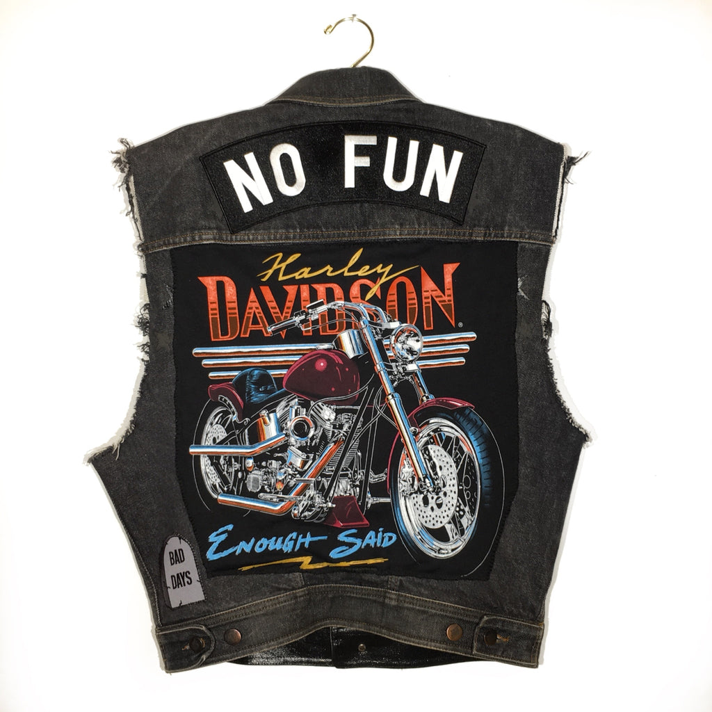 Customized Denim Harley Vest