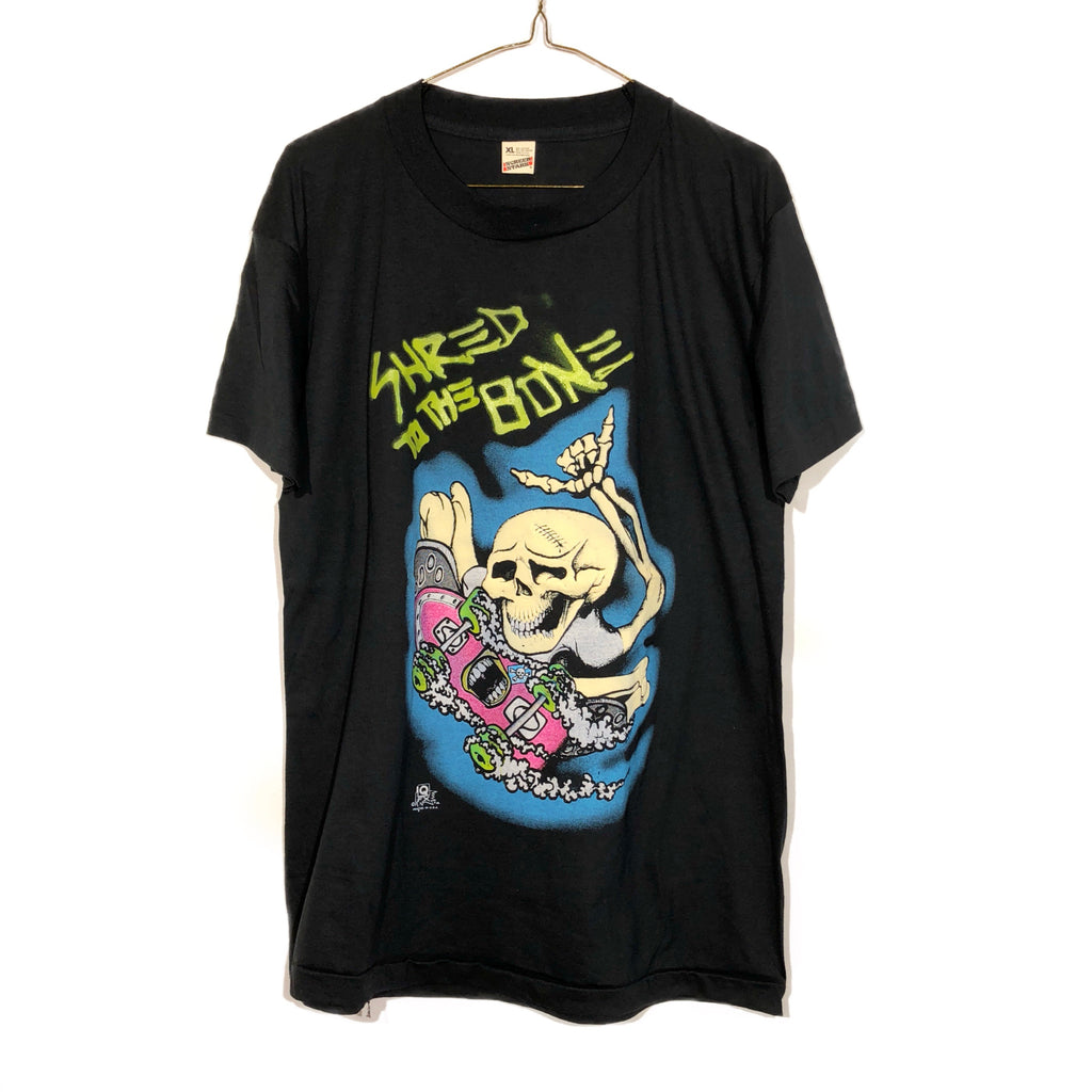 Super Thin Shred To The Bone Sk8 Tee