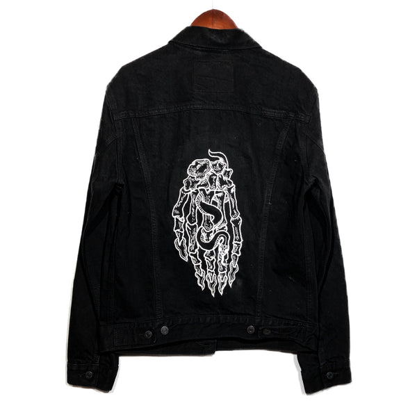 Hand Embroidered Chain Stitched Levi's Trucker Jacket