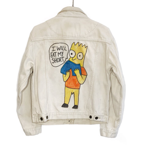 Bootleg Bart Simpson Suckville Denim Jacket
