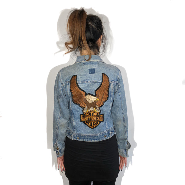 Vintage Harley Patch Denim Jacket