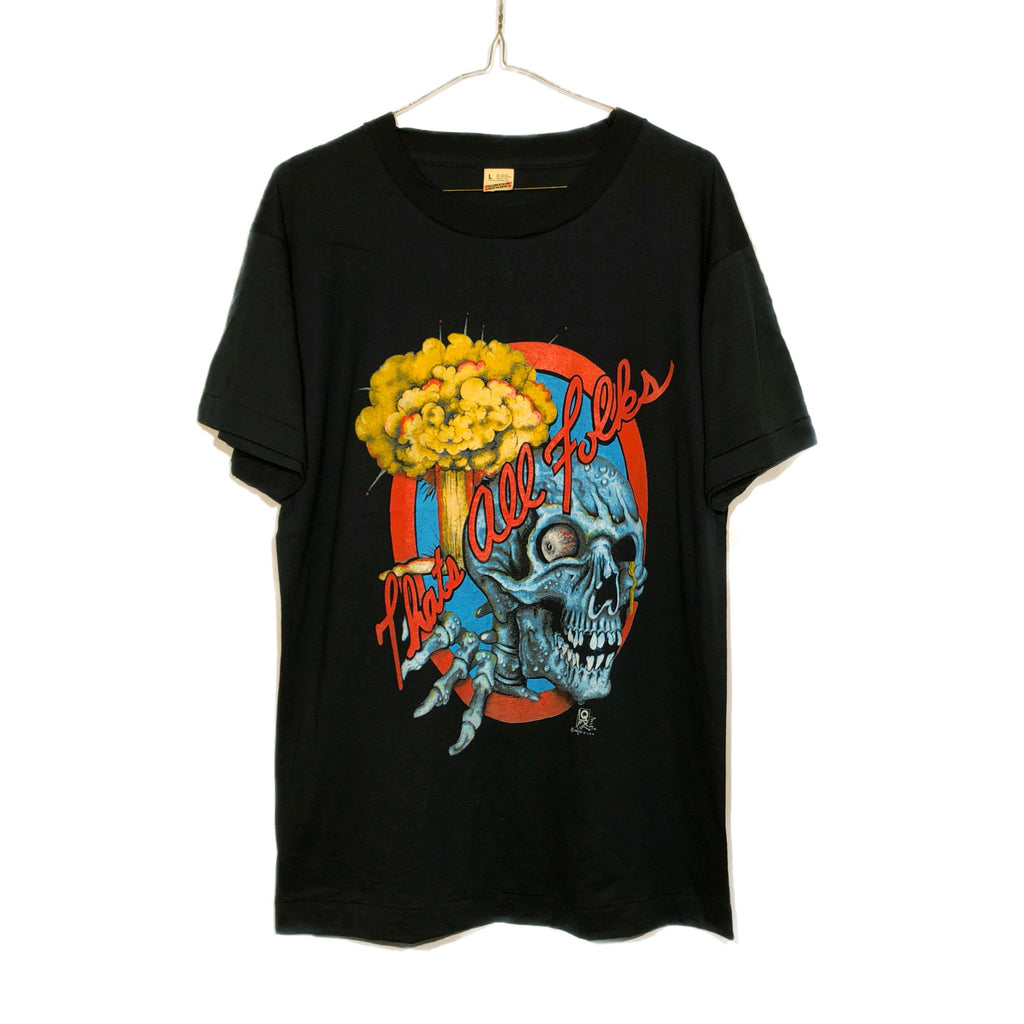 "Paper Thin ""That's All Folks"" Skull Mushroom Cloud Tee"