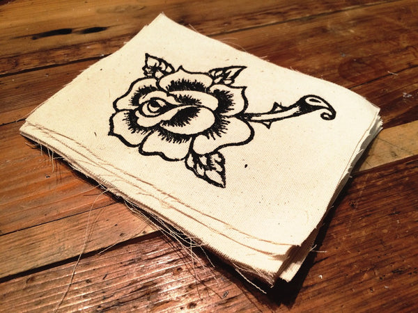 Rose Canvas Patch