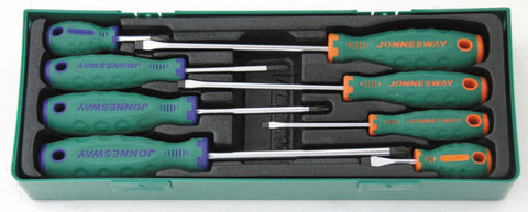 8PC. ANTI-SLIP GRIP SCREWDRIVER SET