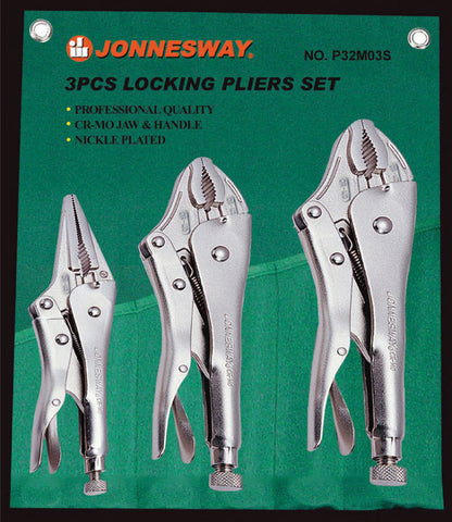 3 PIECE LOCKING PLIER SET