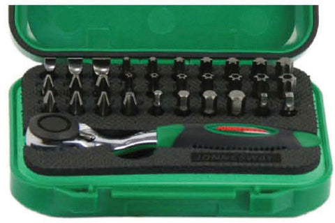 "32 PIECE 1/4"" HEX MINI RATCHET BIT SET"