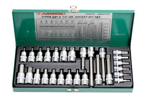 "27 PIECE 3/8"" & 1/2"" DRIVE SOCKET BIT SET"