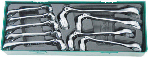 9PC. FLEXIBLE FLARE NUT COMB WRENCH SET