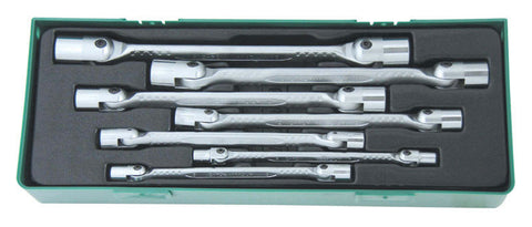 7 PIECE DOUBLE FLEXIBLE SOCKET SET