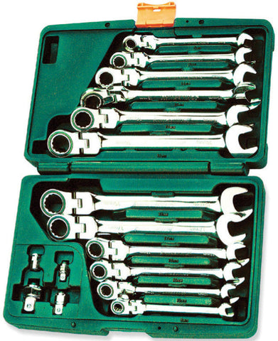 16PCS 72 TEETH COMB WRENCH SET (MM)