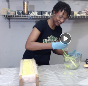 Making of Lemongrass and Poppy Seed Soap