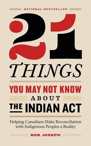 21 Things You May Not Know About The Indian Act by Bob Joseph
