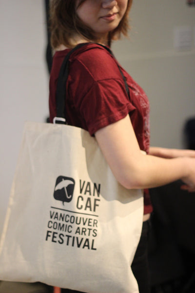 VANCAF 2017 Tote Bag, Featuring artwork by Faith Erin Hicks