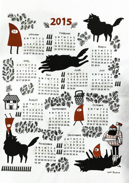 Kate Beaton 2015 Tea Towel - Little Red Riding Hood