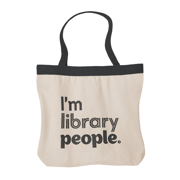 I'm Library People Canvas Tote