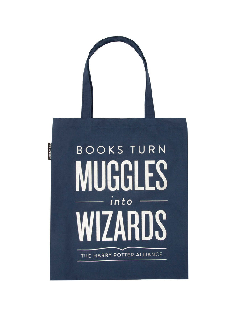 Books Turn Muggles into Wizards Tote