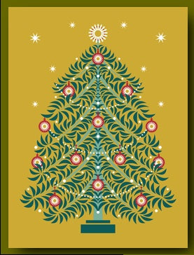 Xmas Fancy Christmas Tree Box Cards (8pcs)