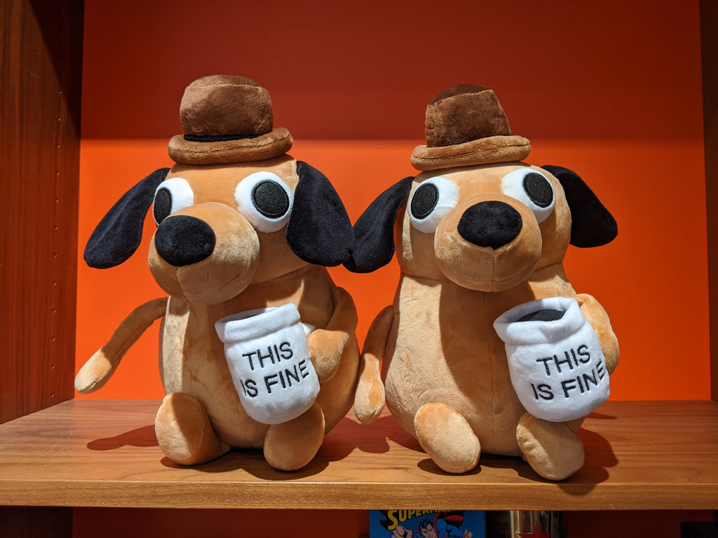 This Is Fine Plush Dog (full size)