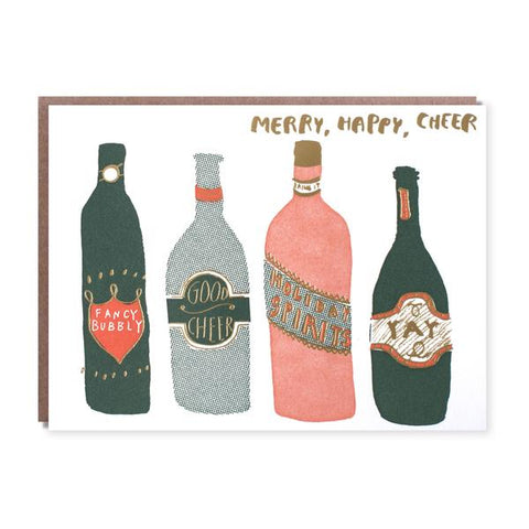 Merry, Happy, Cheer Box Card Set (6pcs)